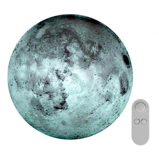 Creative Remote Control Moon-shape Romantic Wall Lamp